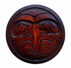 Northwest Coast Native Carving | Northwest Coast First Nations Native Art Kwakwaka'Wakw Eagle Moon ...