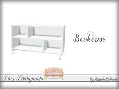 White empty bookcase with slots.  Found in TSR Category 'Sims 4 Bookshelves'