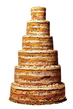 Wedding-Cake Porn Almost Too Good To Eat #refinery29  http://www.refinery29.com/new-york-wedding-cakes#slide8  Haunting our sweet dreams.  Pumpkin-Pie Graham-Cracker Cheesecake, $5 per serving, available at Momofuku Milk Bar.