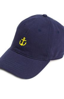 Embroidered Anchor Baseball Hat