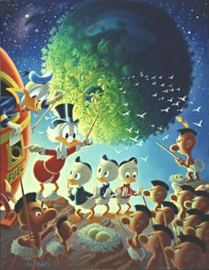 An Astronomical Predicament, Carl Barks Lithographs, Carl Barks Prints, Disney Lithographs, Disney Prints, Another Rainbow Lithographs, Uncle Scrooge, Donald Duck, Nephewsarl Barks Lithographs, Disney Lithographs, Another Rainbow Lithographs, Uncle Scrooge, Donald Duck, Nephews