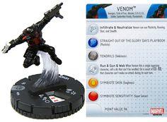 Venom #034 (Red Tongue) Deadpool Booster Set Marvel HeroClix