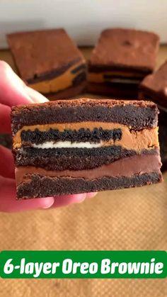 Brownie Recipes, Chocolate Recipes, Chocolate Oreo Cake, Brownie Desserts, Cheesecake Desserts, Fun Baking Recipes, Snack Recipes, Recipes For Desserts, Easy Desserts