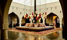 Arabian fort-style main lobby at The Chedi Muscat