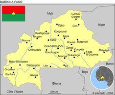cool Burkina Faso Map Tourist Attractions Tours Maps Pinterest