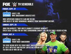 Watch Wrestling - Watch WWE Raw online, Watch WWE Smackdown Live , Watch WWE online, Watch ufc Online and Watch Other Events Highlights. Watch Wrestling, Wrestling Wwe, Tv Schedule, Usa Network, Charlotte Flair, John Cena, Wwe Superstars, Greatest Hits, Looking Back