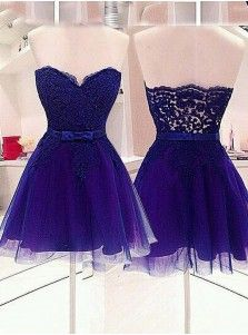 2015 Modern A-line Sweetheart Sleeveless Short Tulle Belt Homecoming Dress/Bridesmaid Dress TUHD-7290