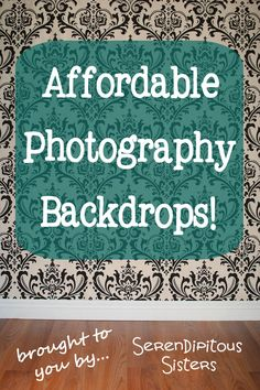 Affordable Photography Backdrops!