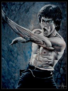 Another Bruce lee drawing that I spent way too long on, and I forget when I started, but it just took ages. Enter the Dragon, anyone? Bruce Lee: Art of the Dragon Arte Bruce Lee, Bruce Lee Body, Karate, Lee Movie, Marshal Arts, Bruce Lee Martial Arts, Kung Fu Movies, Jeet Kune Do, Bruce Lee Quotes