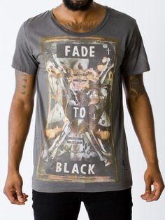 Religion Clothing All Fades  Bound Crew Neck Front and Back printed Detail Short Sleeve Brand Reference: B214 TCF11  SS14 Menswear Collection