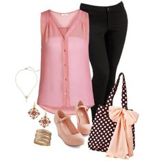 ,Pink and Black. plus size by washername-oh on Polyvore featuring ONLY, Old Navy, Jessie Steele, R.J. Graziano and 1928