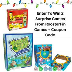 Enter to win a 2 Surprise RoosterFin Games & a coupon code in this #2016HGG Giveaway. #RoosterFin