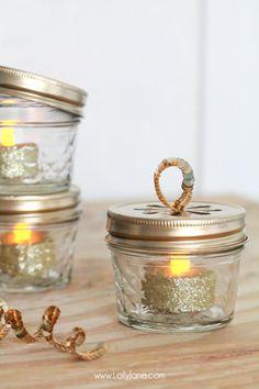 Diy glitter mini mason jar ornament mini mason jars christmas diy ball jar christmas ornaments solutioingenieria Image collections