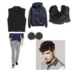 """""""Bryan Winfield's everyday outfit"""" by clockwork12 on Polyvore featuring interior, interiors, interior design, home, home decor, interior decorating, Monki, Banana Republic, H&M and Salomon"""