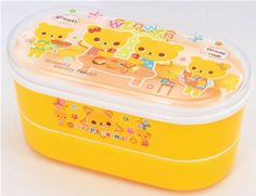 Yellow Bento Box Bear Family kawaii lunch box - Bento Boxes - kawaii shop modeS4u