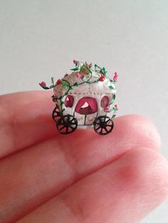 Tiny Fairytale coach Micro miniature. OOAK by Ilovemicro on Etsy
