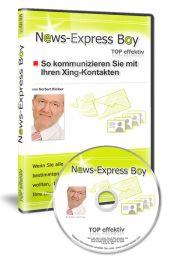 News-Express-Boy  Personalisierte Nachrichten an Xing-Kontakte senden    Geniales Tool: Mit dem News-Express Boy senden Sie schnell und einfach Nachrichten an Ihre Xing-Kontakte und bringen neuen Schwung in Ihr Xing-Netzwerk.  EUR 99,-