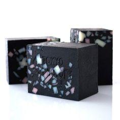 Japanese Black Kimono Soap with Organic Shea Butter - Japanese Bamboo Charcoal Powder - Vegan Soap - Detox Soap - Gift on Etsy, $7.00