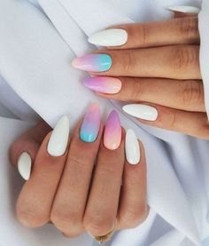 61 Most Stunning Summer Long and Short Almond Nails Ideas - Diaror Diary - Page 10 ♥ 𝕴𝖋 𝖀 𝕷𝖎𝖐𝖊, 𝕱𝖔𝖑𝖑𝖔𝖜 𝖀𝖘!♥ ♥ ღ Hope you like this Stunning almond acrylic nails design collection! ღ 𝓖𝓸𝓻𝓰𝓮𝓸𝓾𝓼 Cute Summer Nail Designs, Cute Summer Nails, Short Nail Designs, Nail Designs Spring, Spring Nails, Almond Nails Designs Summer, Summer Gel Nails, Almond Acrylic Nails, Best Acrylic Nails