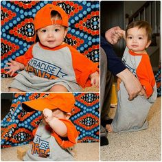 Cheering #SyracuseU on before bed in mommy's shirt and daddy's hat! #LyraPary #BabyHobin #baby #daughter #happy #9monthsold #syracusebasketball #syracuse #GoCuse!
