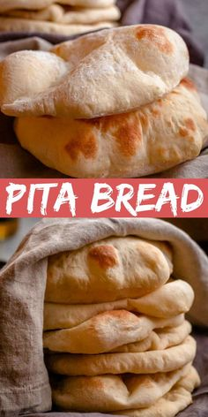 This Pita Bread is made with just a few simple and inexpensive ingredients. The whole process takes about 2 hours from start to finish but when done youll have delicious homemade pita bread that no store-bought version can rival. Homemade Pita Bread, Cookies Et Biscuits, Greek Recipes, Pita Recipe No Yeast, Vegan Pita Bread Recipe, Pita Bread Recipes, Tasty, Favorite Recipes, Sweets