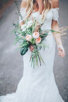 wild bouquet, photo by Papered Heart Photography http://ruffledblog.com/brooksville-florida-wedding #weddingbouquet #flowers