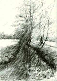 Haagse Bos - 22-04-14 (2014), graphite on paper (A5) (for sale / te koop)  See me on: www.corneakkers.com #arts #kunst #Corné #Corne #Akkers #藝術 #アート #искусство #فن #seni