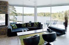Black furniture for living room