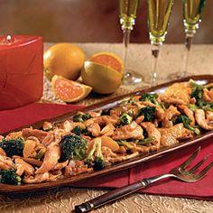 $2 Chicken Recipes  | Spicy Ginger-and-Orange Chicken with Broccoli | MyRecipes.com
