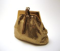 Vintage Whiting & Davis Mesh Bag: Brass Giraffe Vintage