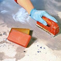 Steps 16 - 18: Polish, seal, and wax - How to Make Concrete Countertops - Sunset