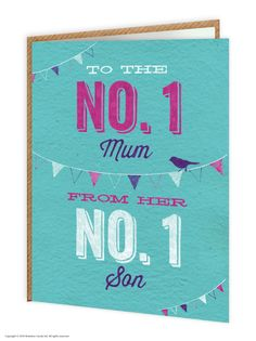 brainboxcandy.com - Number 1 Son Mother's Day Greetings Card, £2.50 (http://www.brainboxcandy.com/number-1-son-mothers-day-greetings-card/)
