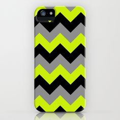 Chevron Silver Lime iPhone & iPod Case by Alice Gosling - $35.00  Available for Galaxy S4, iPhone 5, 5S, 5C, 4S, 4, 3GS, 3G, & the iPod Touch