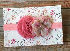 Dusty Rose Baby Headband/Mauve Baby Headband/Pink Headband/Dusty Pink Baby Headband/Newborn Headband/Baby Headband/Infant Headband/Flower by JuliaGraceDesigns1 on Etsy