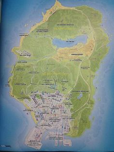 Cool Map Thing: See Los Santos, The Town That Plays LA In Grand Theft Auto V. Great example of environments and maps for a game Gta 5, Gta V Cheats, Grand Theft Auto Games, Bioshock Game, San Gabriel Mountains, Like I Love You, Video Game Art, Video Games, Call Of Duty Black