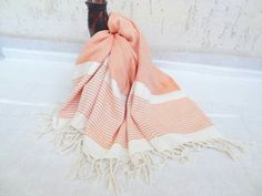 Orange Bamboo Peshtemal-Turkish by OttomanBazaars on Etsy