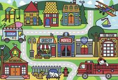 City Streets - Floor Puzzle Cartoons Jigsaw Puzzle