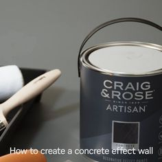 Find Craig & Rose Artisan Concrete Effect Paint, Onyx Edge - at Homebase. Visit your local store for the widest range of paint & decorating products. Concrete Effect Paint, Painting Concrete, Concrete Wall, Wall Design, House Design, Paint Effects, Wall Finishes, Polished Concrete, Textured Walls