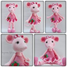 Angelina Ballerina knitted toy. Cute!