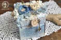 Exploding Blue Box - cynkowe poletko: niebieski