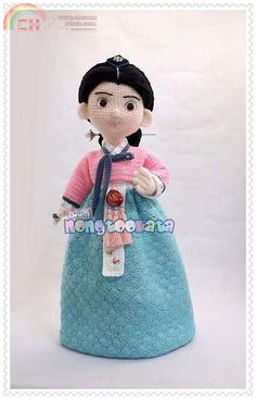 Korean girl by Baannongtookata (Thailand pattern) -