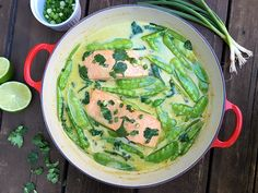 Foodist Approved: Green Curry Braised Salmon Recipe | Summer Tomato