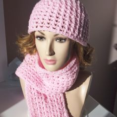 hat and scarf, crochet