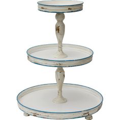 Stylist's Tip: Dessert stands aren't just for tasty treats—use this 3-tiered design to arrange soaps and lotions in the powder room, or set it on the ma...