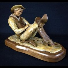 """Writing Home"" Bronze Ltd. Ed. available for purchase contact info http://www.hrkaiserstudios.com"