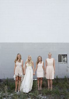 A photo similar to this with my beautiful bridesmaids and I will be a very happy bride. Bridal Dresses, Bridesmaid Dresses, Bridesmaids, Wedding Weekend, Dream Wedding, Beautiful Dresses, Nice Dresses, Victoria And David, Carla Zampatti
