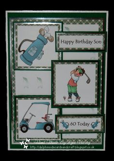 A5 Size Card - Son's 60th Golfing Card This is a commissioned card I made for a friend at work Items I've used to m...
