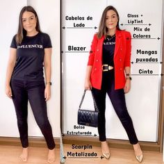 Photo by Poder do Estilo in Brasília, Brazil with and L'image contient peut-être : une personne ou plus, personnes debout et chaussures Indie Outfits, Chic Outfits, Summer Outfits, Fashion Outfits, Classy Casual, Casual Looks, One Suitcase Outfits, Short Girl Fashion, Business Casual Outfits