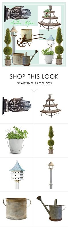 """""""Garden"""" by engleann ❤ liked on Polyvore featuring interior, interiors, interior design, home, home decor, interior decorating, Dot & Bo, Potting Shed Creations and National Tree Company"""