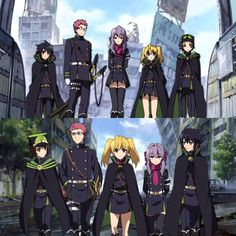 Owari no seraph / Seraph of the end Manga Art, Anime Art, Shinoa Hiiragi, Scariest Monsters, Vampire Shows, Latest Anime, Seraph Of The End, Owari No Seraph, Crowley
